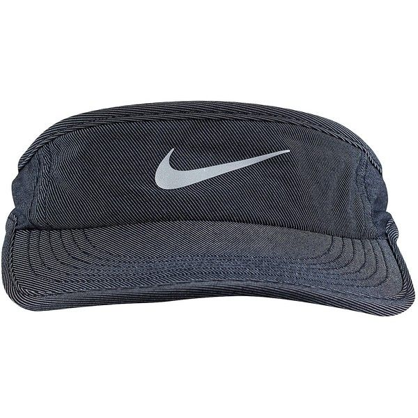 4b59c6bd3 Nike Aw84 Visor Cap ($18) ❤ liked on Polyvore featuring accessories ...