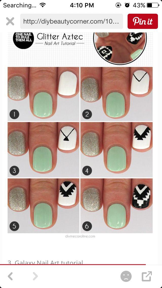 Tribe Nail Nail Art Ideas Pinterest