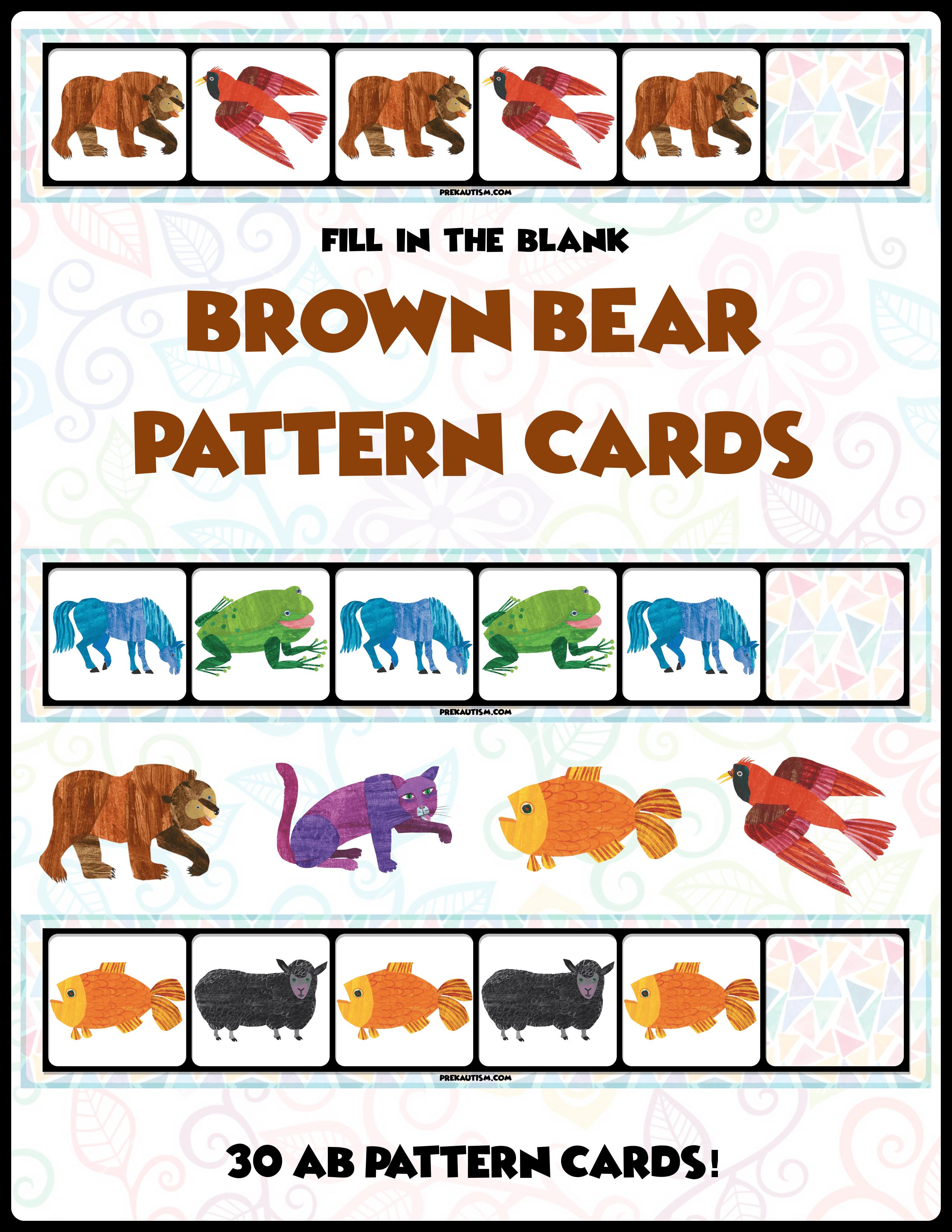 Brown Bear Ab Pattern Cards