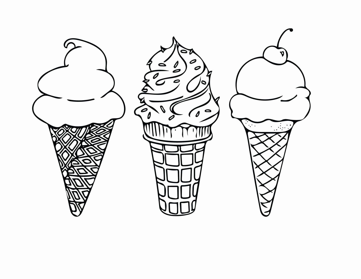 Coloring Page Ice Cream Unique Printable Coloring Sheet Instant