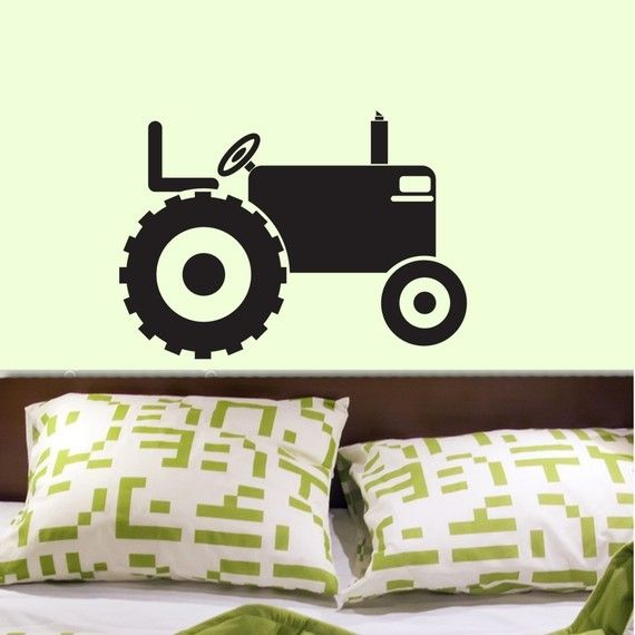 Tractor Can You Do This And Maybe Some Tractor Tire Tracks Lauren Atwaters Vinyl Wall Decals Wall Decals Room Themes