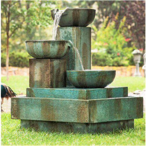 Signature Trio Cascade Outdoor Garden Fountain in Home & Garden, Yard, Garden & Outdoor Living, Ponds & Water Features | eBay