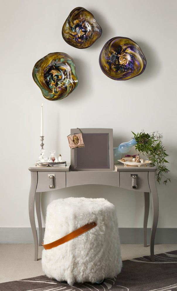 schminktisch schlafzimmer ideen modernes design beige spiegel