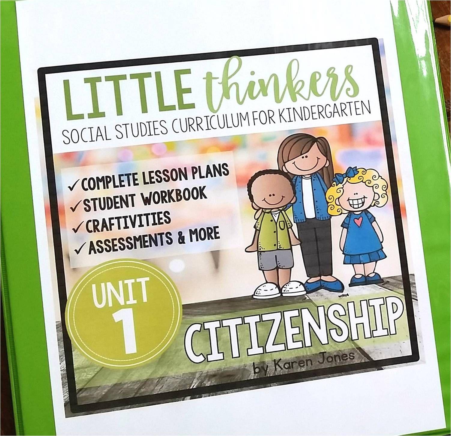 Little Kindergarten Social Stu S Thinkers Curriculum