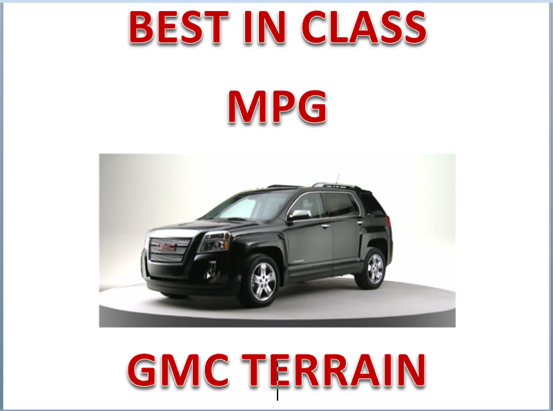 2012 Gmc Terrain Best In Class Mpg Gmc Terrain Gmc Terrain