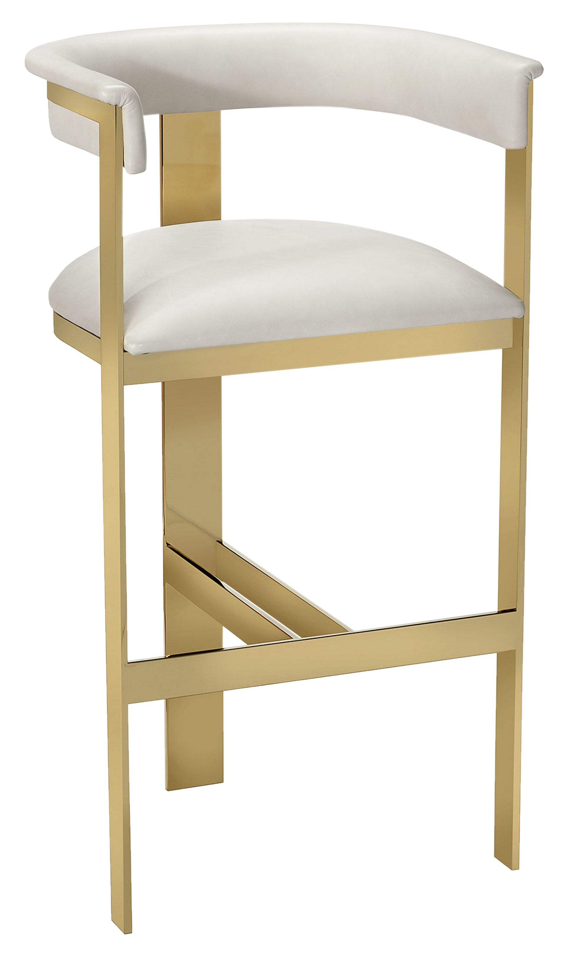 Darcy Bar Stool  Cream  Contemporary Transitional Mid Century Modern