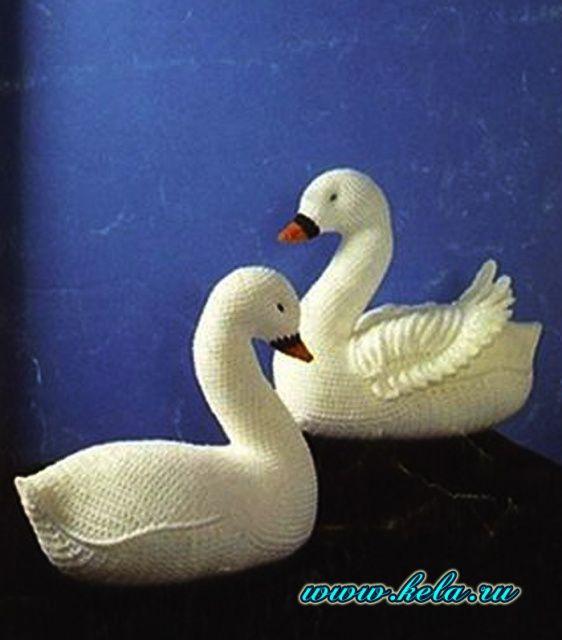Лебедями крючком схемы