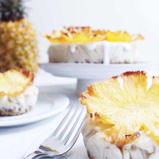 "Piña Colada ""Ice Cream"" Cake on the blog! by thenakedfig"