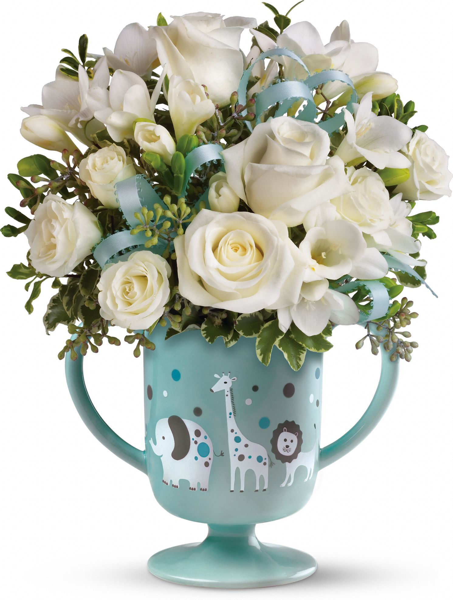 Migis baby circus bouquet by teleflora blue baby showers carithers flowers voted best florist atlanta ga same day flower delivery izmirmasajfo Choice Image