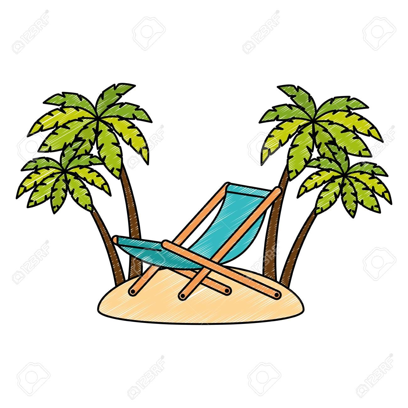 Wooden Beach Chair With Seascape Vector Illustration Design Sponsored Chair Beach W In 2020 Vector Illustration Design Wooden Beach Chairs Illustration Design
