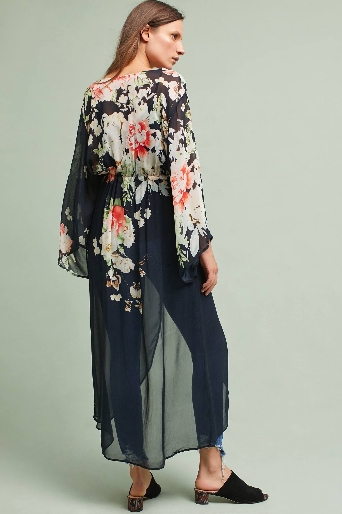 Rosie Long Kimono | Kimonos, Anthropologie and Wardrobes