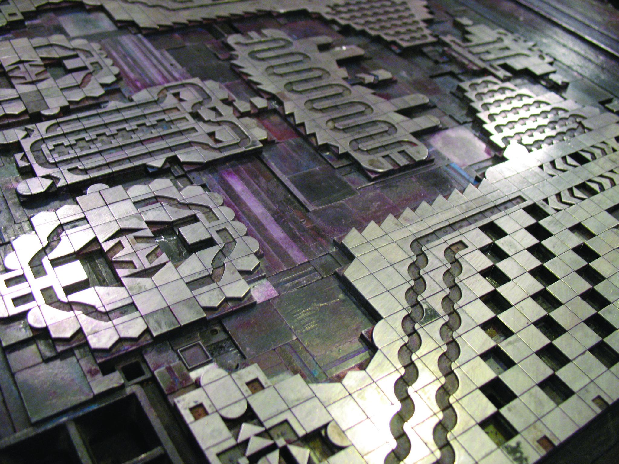 #letterpress leadtype from YeeHaw Industries