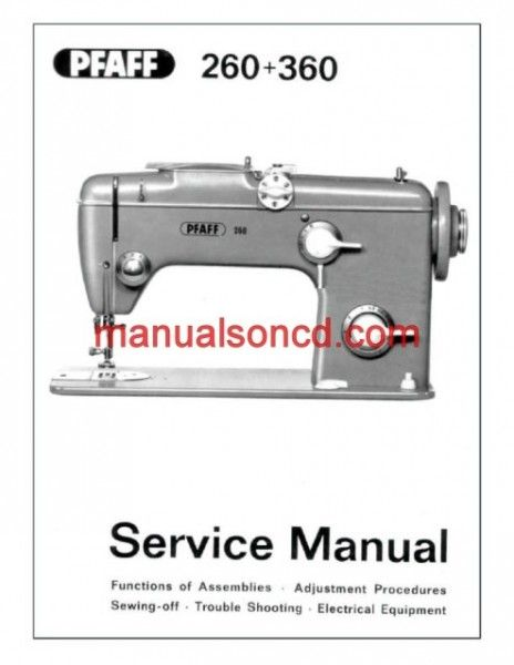 pfaff 260 360 sewing machine service manual embroidery vintage rh pinterest com Singer 111W155 Singer 111W155