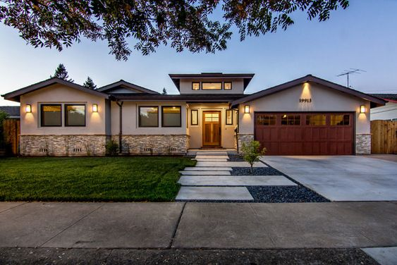 Ranch house redo houzz interesting way to extend the for Driveway addition ideas
