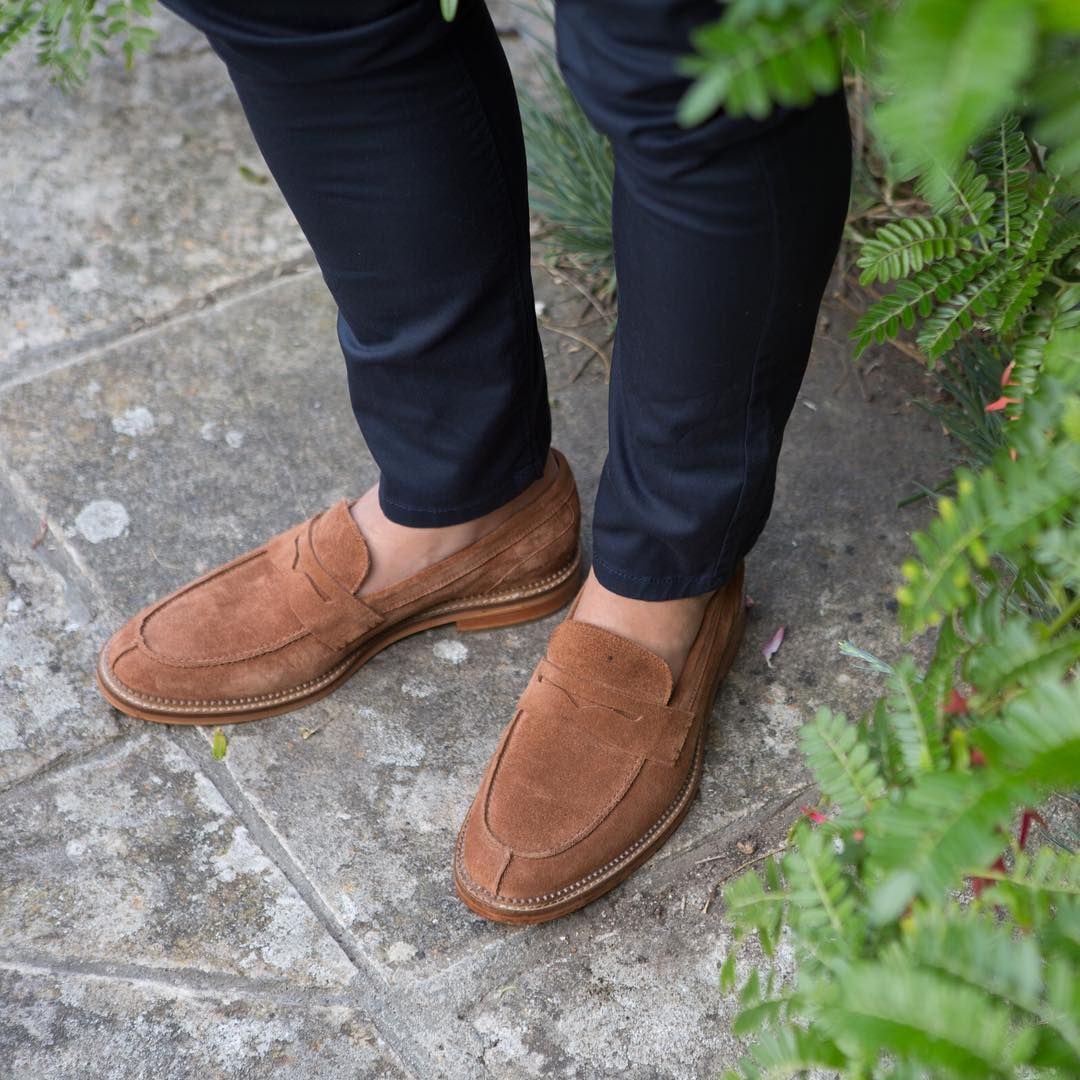 ba6216eaae5 This soft suede penny loafer is a summer must. Shop