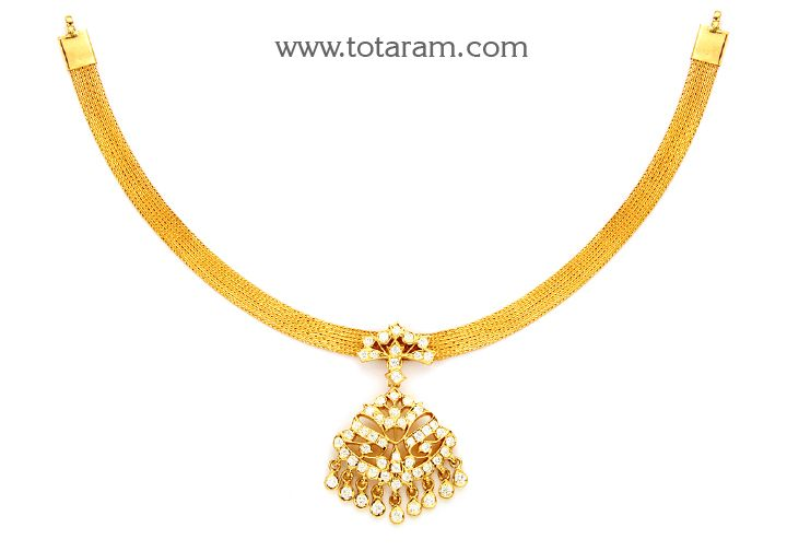 Check out the deal on 22 Karat Gold Diamond Addiga Necklace at