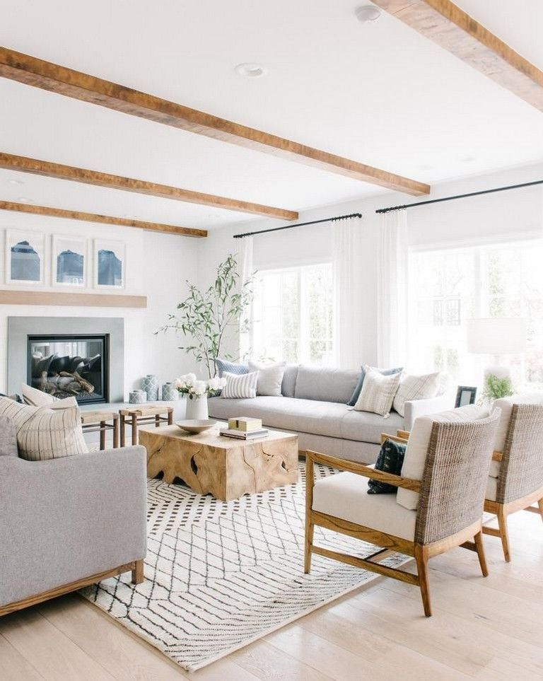45 Simple And Comfortable Living Room Design Ideas Summer Living Room Neutral Living Room Design Farm House Living Room