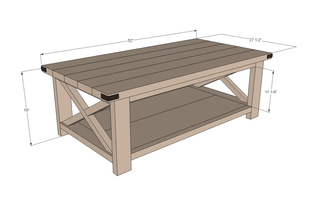 Rustic X Coffee Table | Coffee table plans, Diy farmhouse