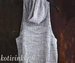 Neulottu liivi on tekstiilisuunnittelija Sanna Vatasen käsialaa.