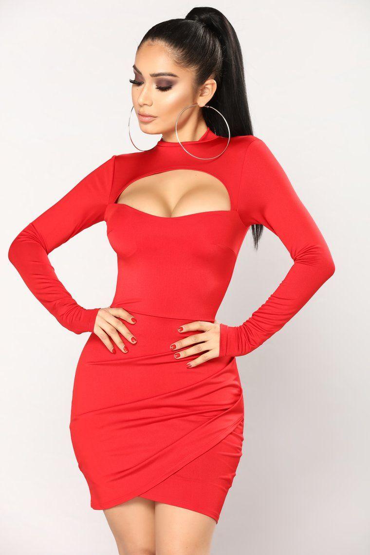 Dare To Mock Me Dress Red en 2020 Vestidos de lycra