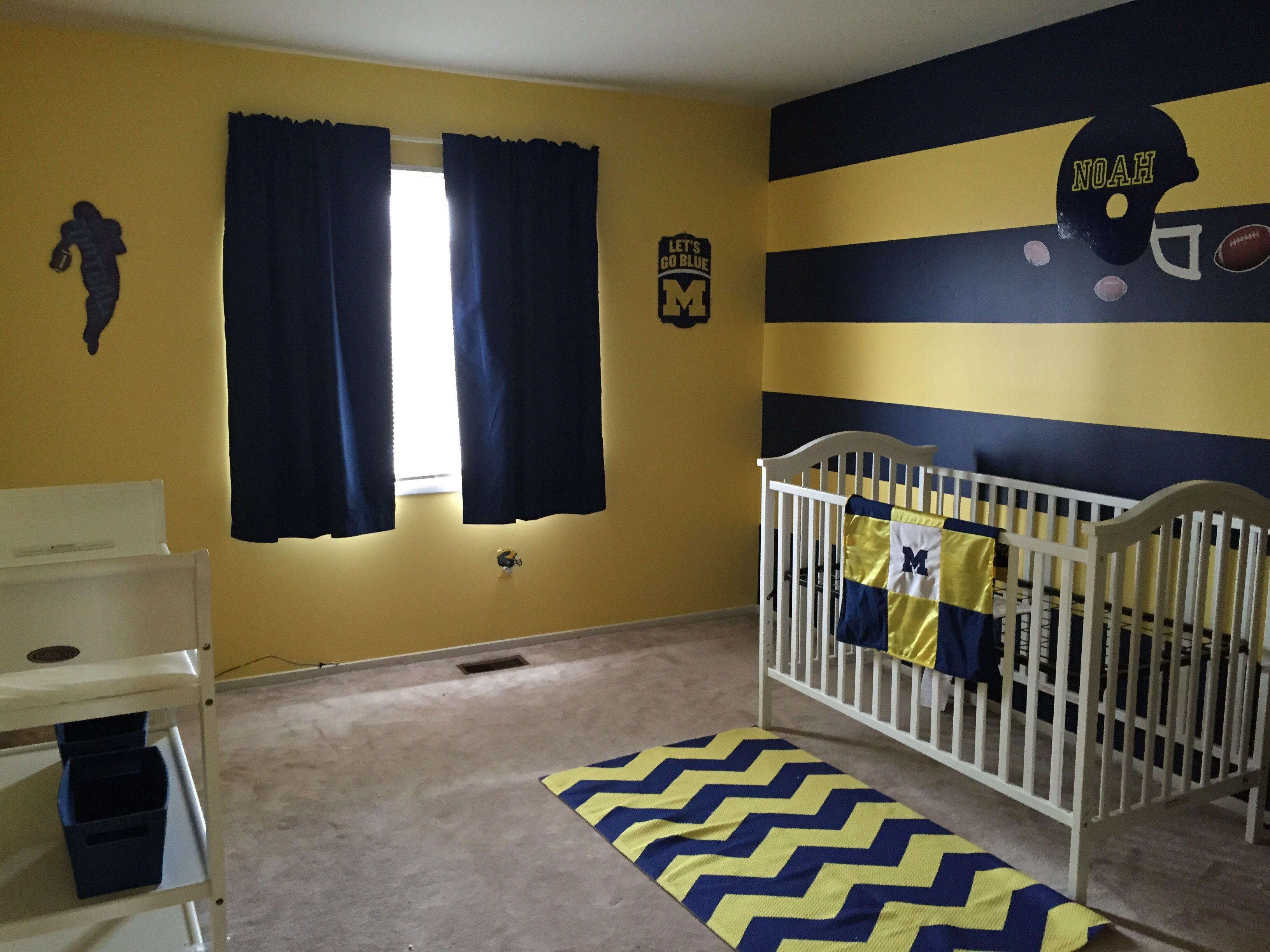 Michigan Wolverines Baby Nursery U Of M Football