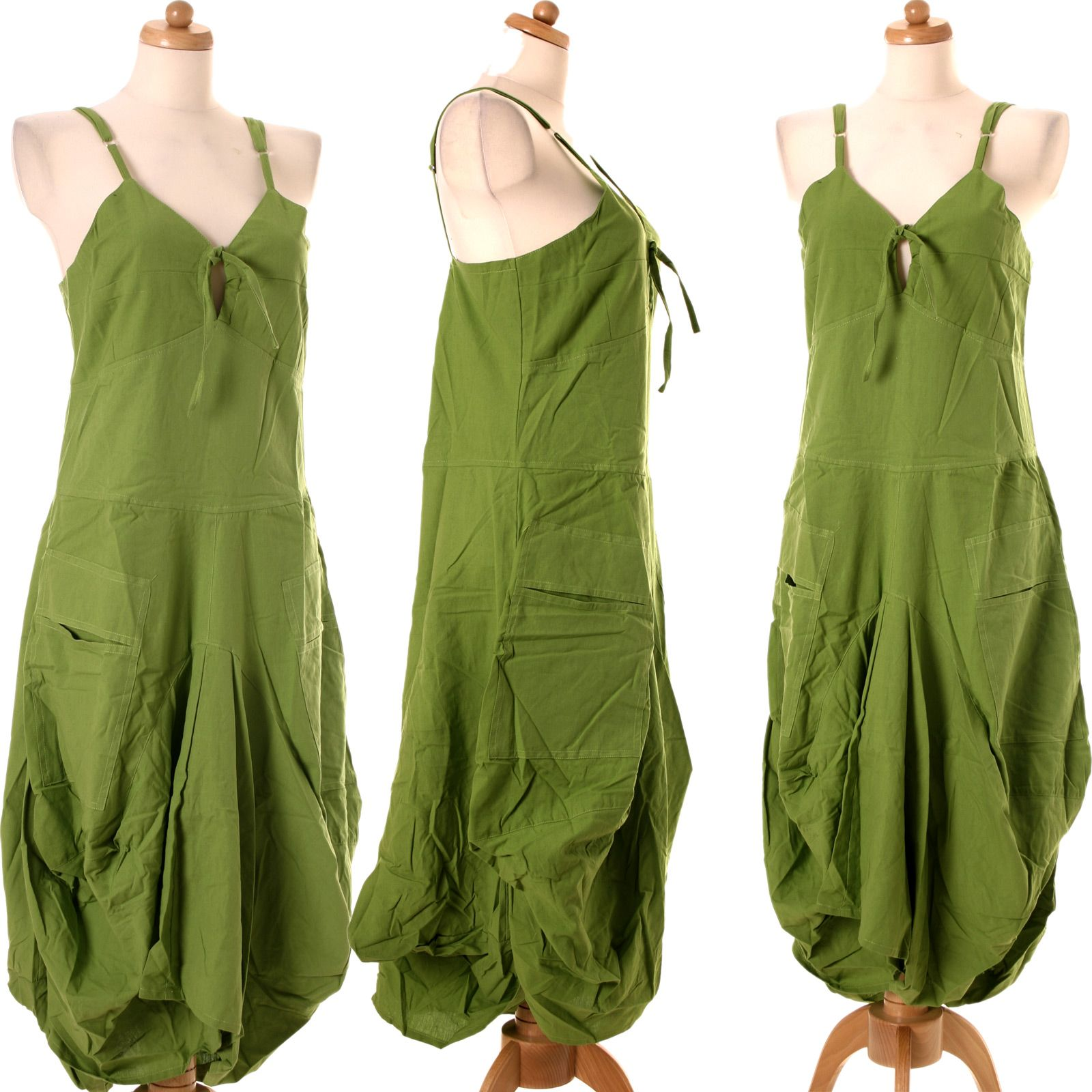 LagenlookVishes Ballonkleid Lang Strand Sommer Kleid zVMUqSp