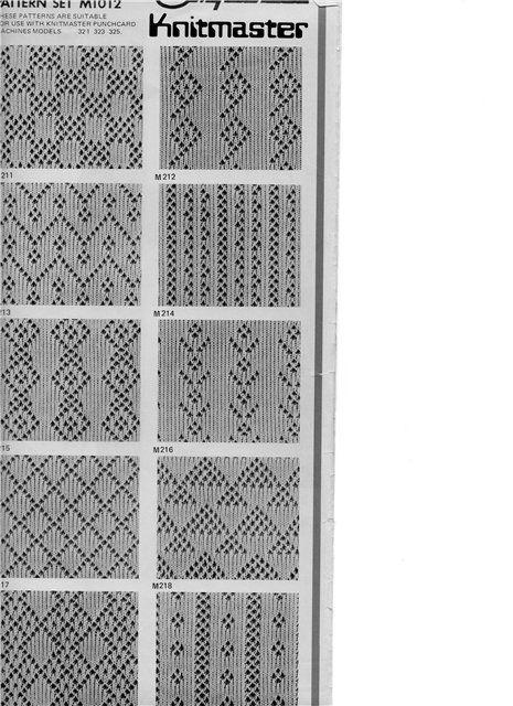 схемы вязания на вязальной машине