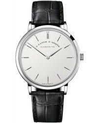A. Lange & Sohne Saxonia  Manual Winding Men's Watch, 18K White Gold, Silver Dial, 211.026