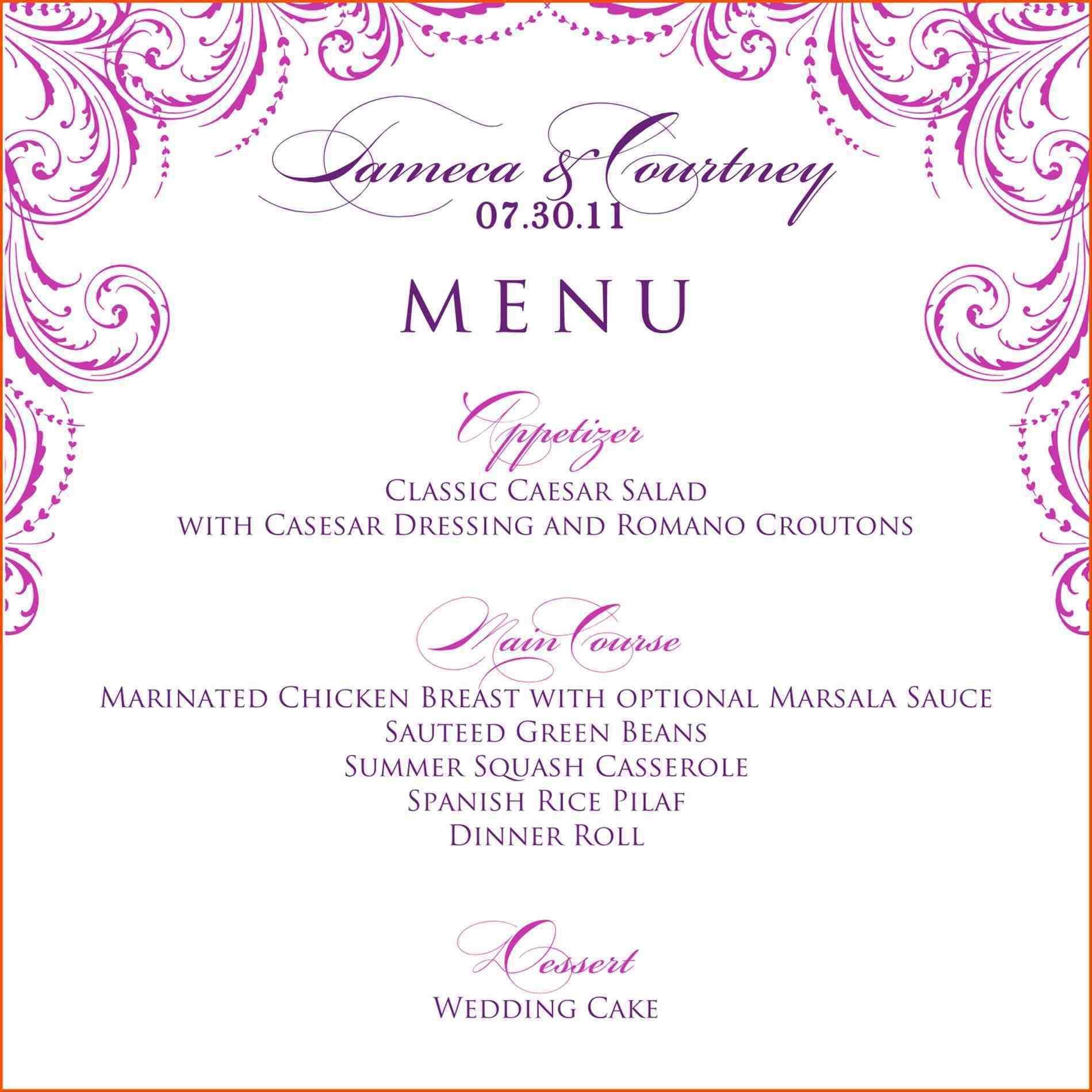 Hgtv Menu Design Templates Free Insssrenterprisesco Menu Catering - Catering menu design templates