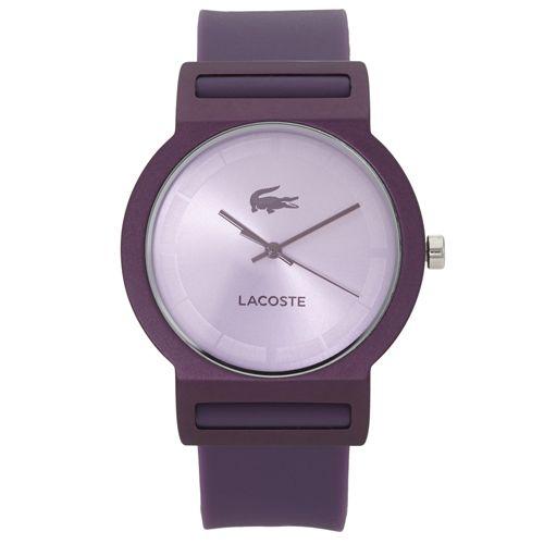 212838b9c42 Relógio Lacoste Feminino Borracha Roxa - 2020075