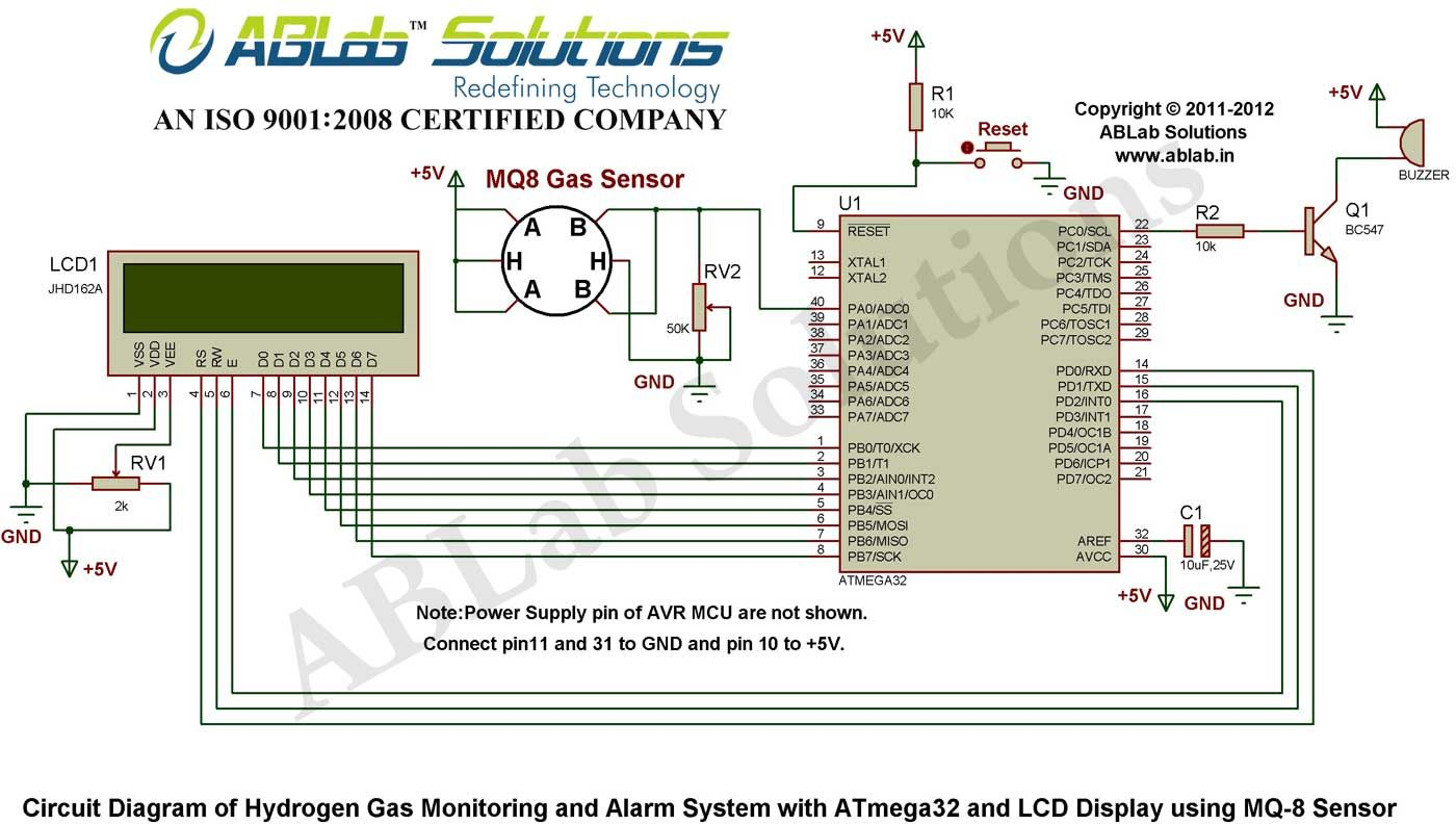 hydrogen gas monitoring and alarm system with avr atmega32 rh pinterest com