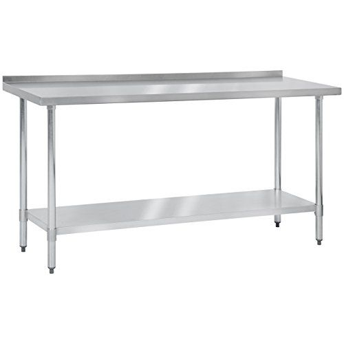 Best Choice Products 72 X 24 Stainless Steel Work Prep Table W Backsplash For Commercial Restaurant Restaurant Kitchen Stainless Steel Prep Table Backsplash
