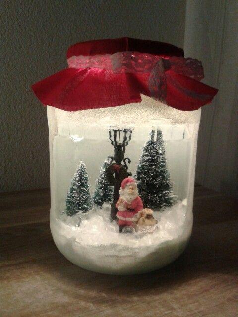 Kerst In Glazen Pot Crea Knutsels Christmas Decorations