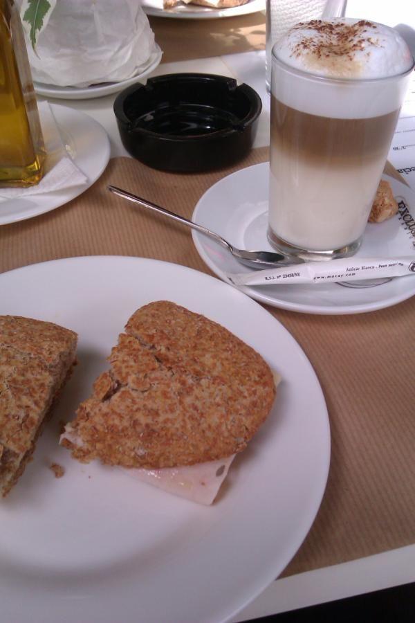 Latte machiato para acompañar el desayuno !