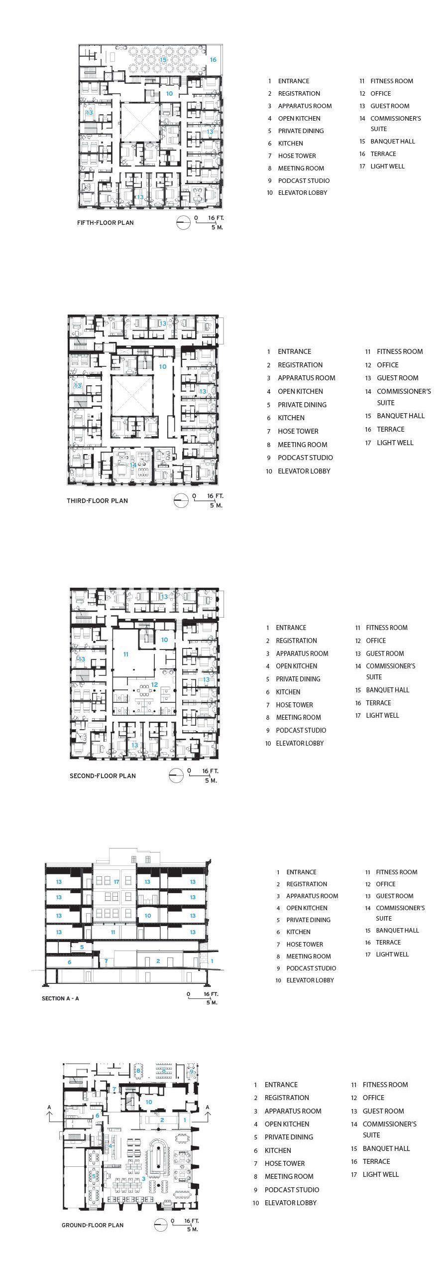 Detroit Foundation Hotel By Mcintosh Poris Associates Hotel Room Plan Hotel Plan Hotel