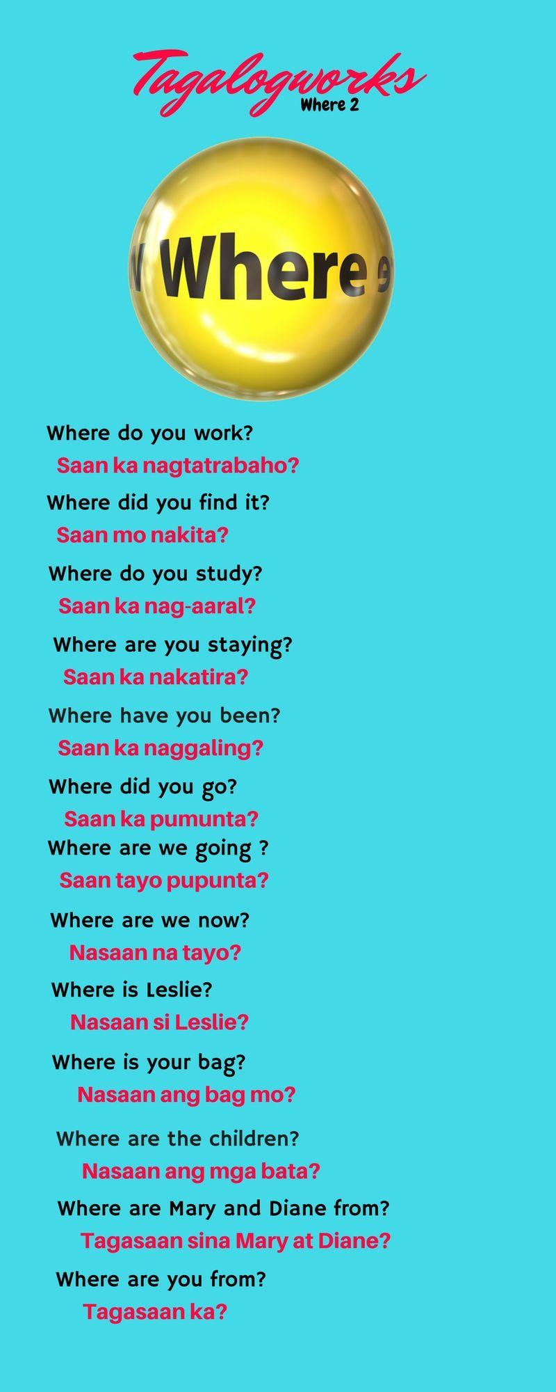 Pin by Josh Meier on Language Tagalog words, Tagalog