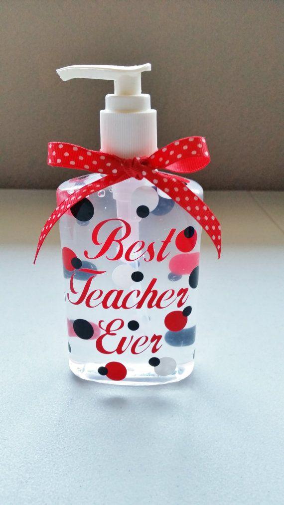 Teachers Personalized Hand Sanitizer Teacher By Santasgiftshoppe