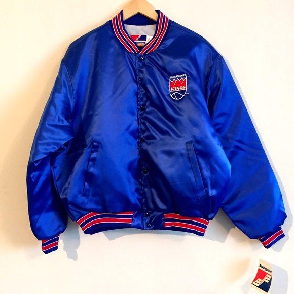 821df933 Vintage Sacramento Kings blue satin varsity jacket Vintage NFL ...