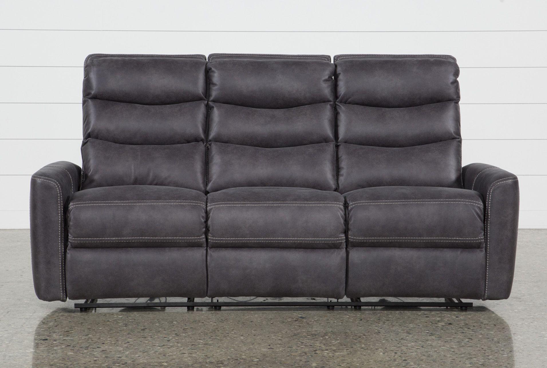 Malia Power Reclining Sofa With Usb Port Grey 695 Reclining