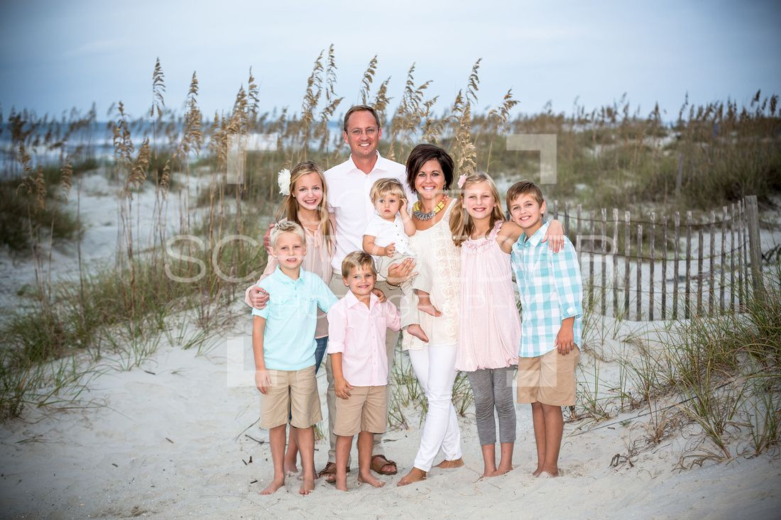 Family Beach Portrait. Hilton Head Island SC. Great Wardrobe Choices! Everyoneu0026#39;s Outfits Work ...