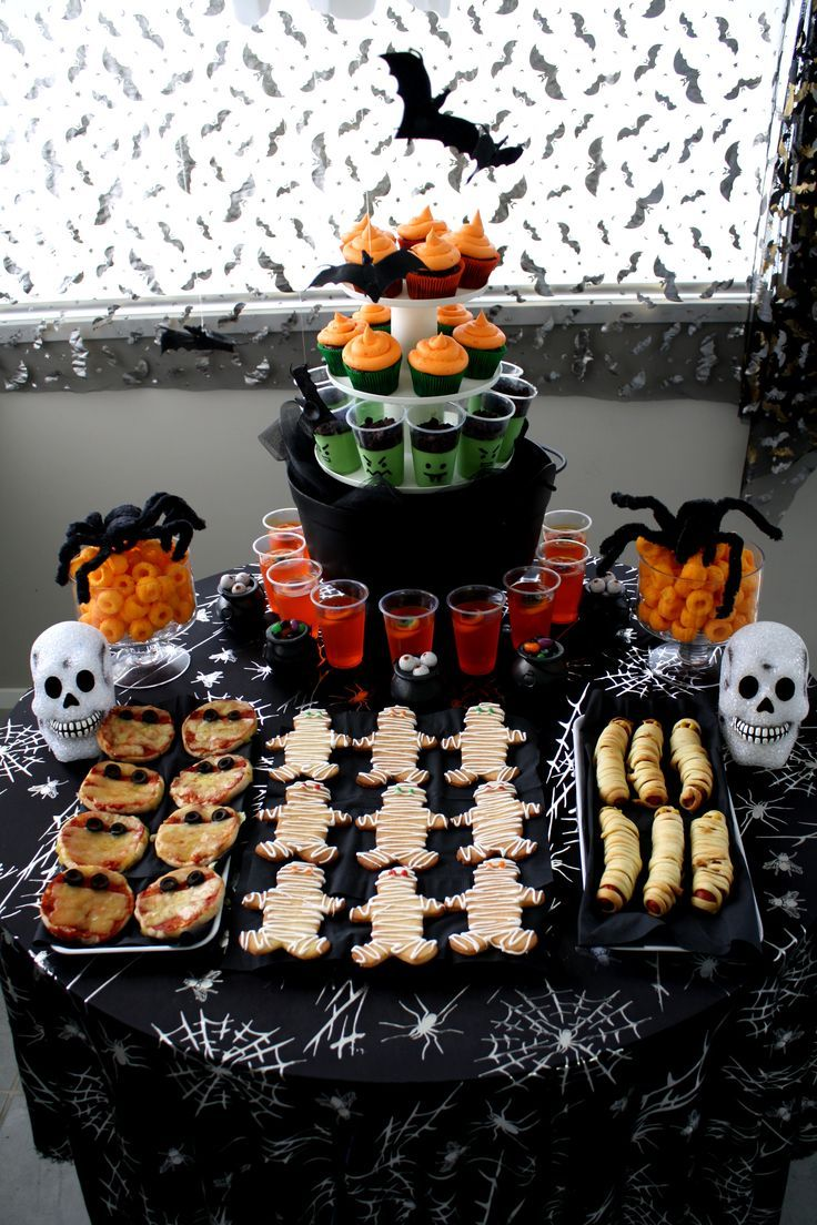 Halloween party food table Caesar\u0027s bday ideas Pinterest - Halloween Decoration Ideas Pinterest