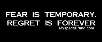 Famous Quotes About Fear Perfect For Sky Diving  Motivational Board  Pinterest  Regrets .
