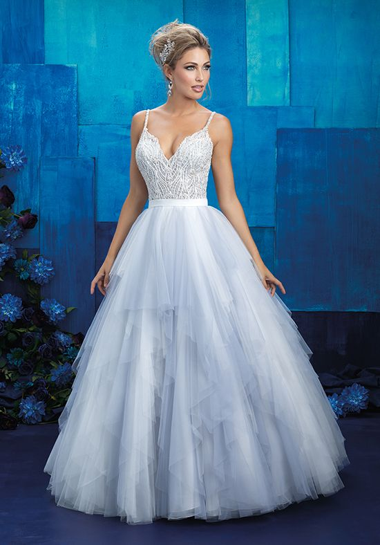 Tiered Tulle Ballgown Wedding Dress | Style 9425 by Allure Bridals |  http://trib.al/mV7xmHt