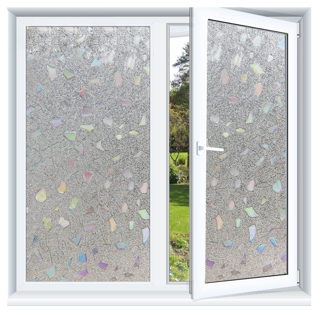 Window privacy ideas  prismoon no glue d static decorative frosted privacy window films