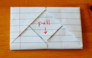 folding an envelope or note -- would be great for clues or other discovery information.
