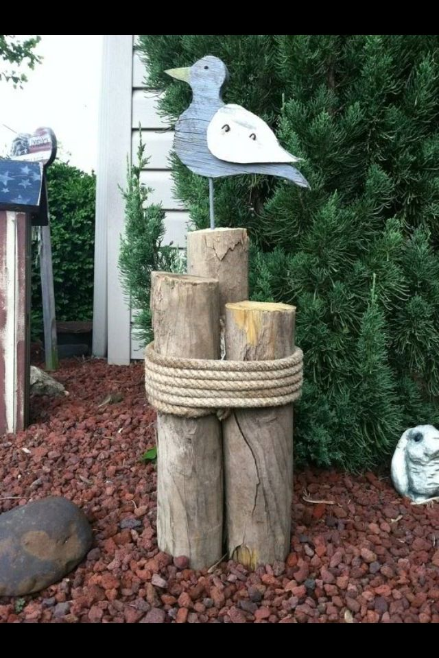 Nautical Yard Decoration In 2019 Outdoor Beach Decor