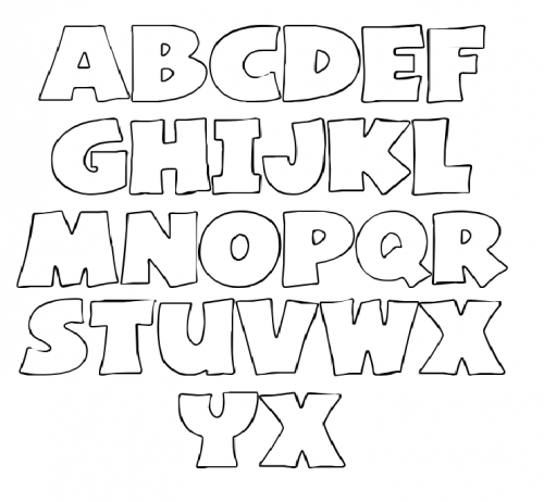 Terrible image within free printable stencil letters