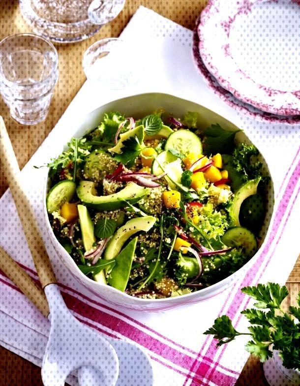 Quinoa Salad with Avocado and Mango Recipe DELICIOUS - Our popular recipe for quinoa salad with av