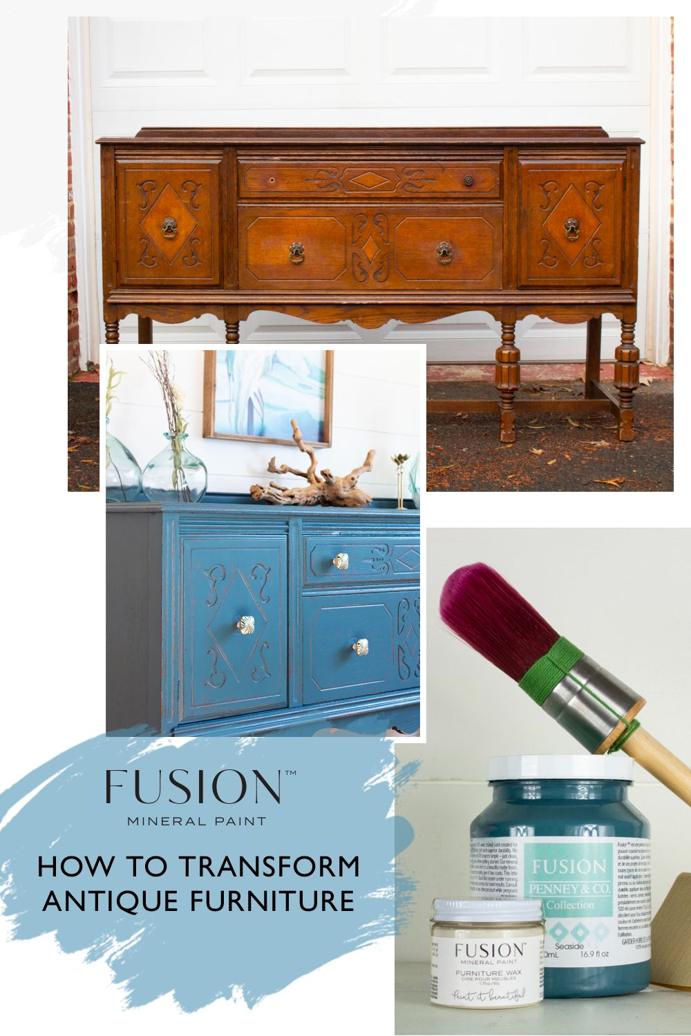 How To Transform Antique Furniture With Fusion Mineral Paint Diy Furniture Restoration Fusion Mineral Paint Antique Furniture Restoration