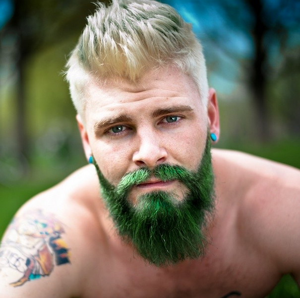 Want To Call Attention To Your Beard? Add Some Wild Color | Facial ...